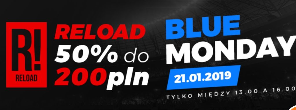Blue Monday z Totolotkiem - bonus aż do 200 PLN!