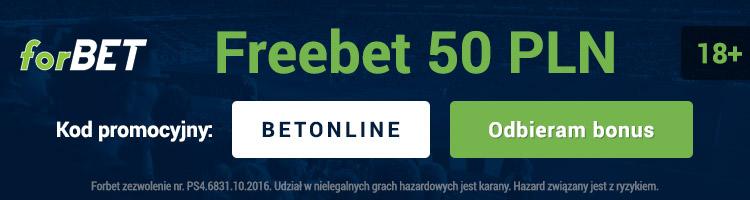 Darmowe 50 PLN w forBET