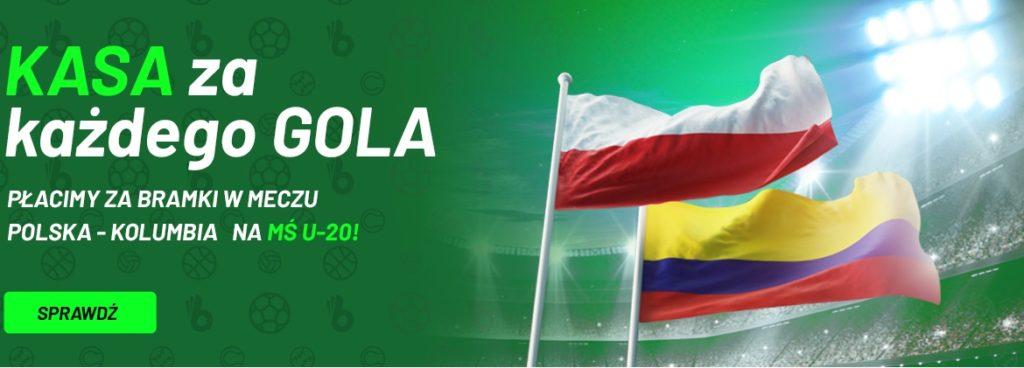 Startują MŚ U20. TOTALbet płaci za gole Polaków przeciwko Kolumbii!